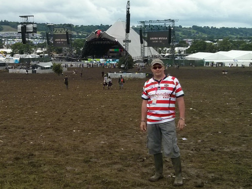 Dave Naylor at Glastonbury